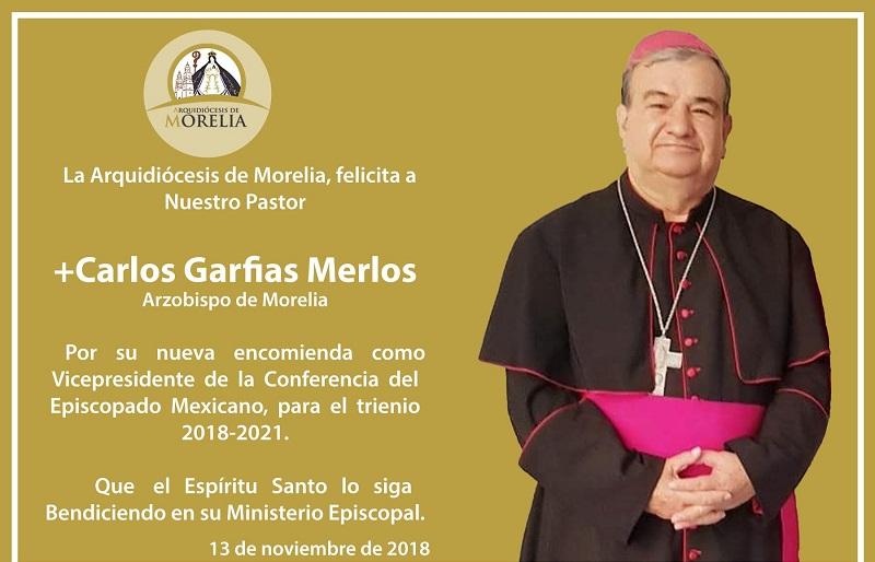 La Arquidiócesis de Morelia felicitó a su arzobispo por el nombramiento