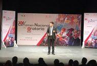 El titular del Cobaem, Gaspar Romero Campos, felicitó y reconoció el esfuerzo del estudiante ganador por lograr la tercera posición
