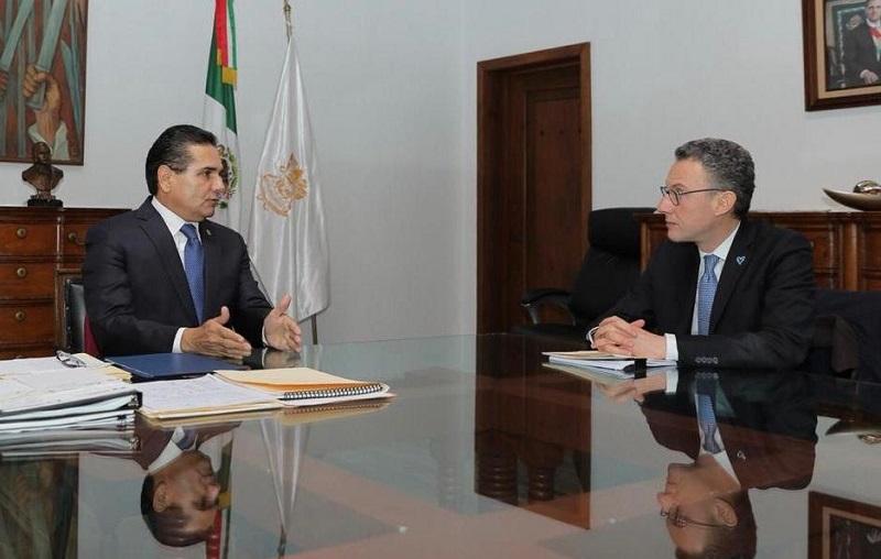 Aureoles Conejo agradeció el apoyo de la UNODC, quien desde el año pasado ha coadyuvado con el Gobierno Estatal en capacitar a elementos de la Policía Michoacán, para que se actualicen en cuanto a los protocolos nacionales e internacionales y la capacidad de respuesta