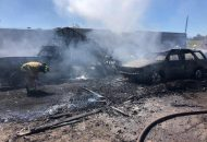 El hecho ocurrió aproximadamente a las 11:00 horas cuando reportaron a los servicios de emergencia un fuerte incendió sobre la Avenida Miguel Hidalgo, entre las colonias Satélite y Pino Suárez ,a un costado de la UTM