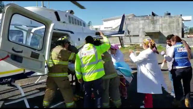Ambos son reportados estables en el Hospital de la Mujer, donde ya reciben atención médica