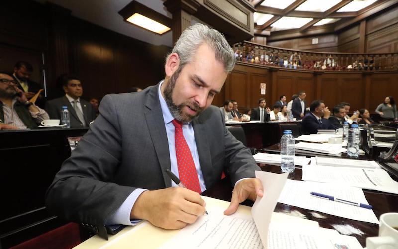 Alfredo Ramírez Bedolla, presidente de la Junta de Coordinación Política en la LXXIV Legislatura,  destaca que la promulgación de la Ley Orgánica de la Fiscalía General de Michoacán implicará el inicio de una nueva época