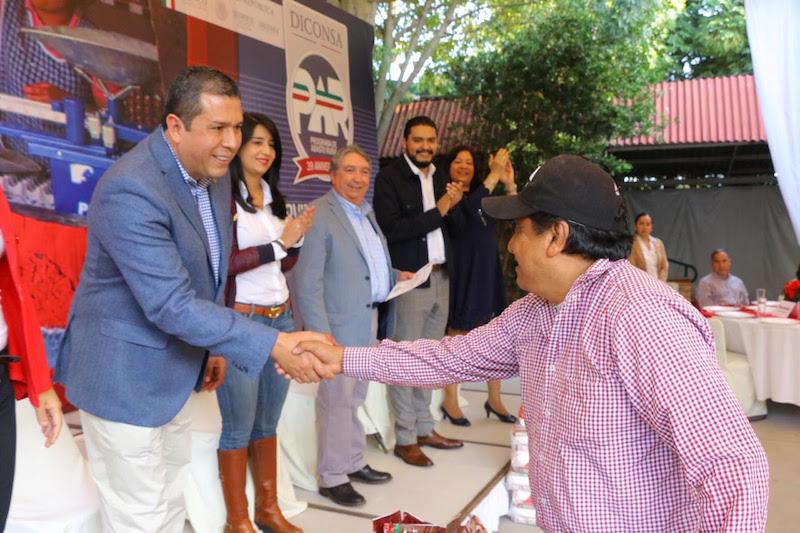 Barragán Vélez felicitó el esfuerzo de Diconsa por el trabajo que viene realizando en la entidad