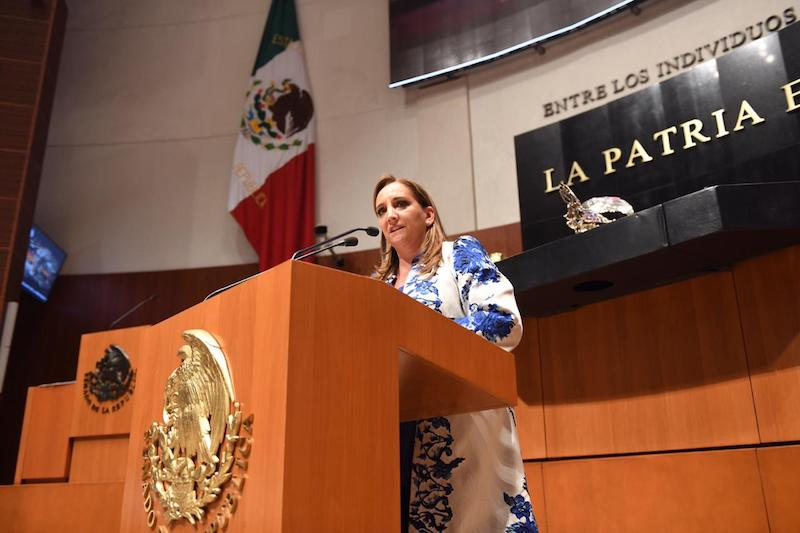 """Claudia Ruiz señaló que en el proceso legislativo de reformas a la Ley Orgánica de la Administración Pública Federal, para acotar la figura de los súper delegados, """"Morena no dio muestra de su pregonada vocación democrática"""""""