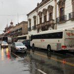 Los manifestantes exigen el pago de recursos pendientes para proyectos productivos por parte de la Sedrua del Gobierno de Michoacán