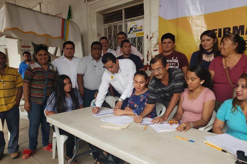 Esta actividad, fue encabezada por el delegado político del Distrito XVIII del Sol Azteca, Orlando Atrián Díaz