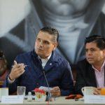 En el encuentro, el mandatario michoacano, con integrantes del Grupo de Coordinación, conoció pormenores del Plan Nacional de Paz y Seguridad