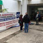 Se reporta la presencia de manifestantes del SITCBEM en las oficinas de Egresos de la Tesorería Municipal de Morelia y aseguran que las liberarán hasta el próximo viernes