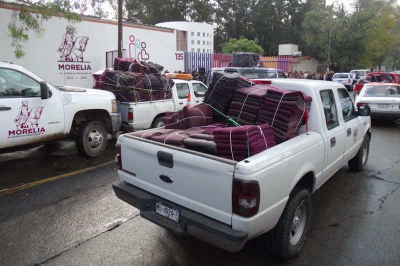 Las bajas temperaturas que se han presentado en la capital michoacana y sus zonas aledañas afectan sobre todo a quienes viven en lugares altos y en casas construidas con lámina de cartón y madera