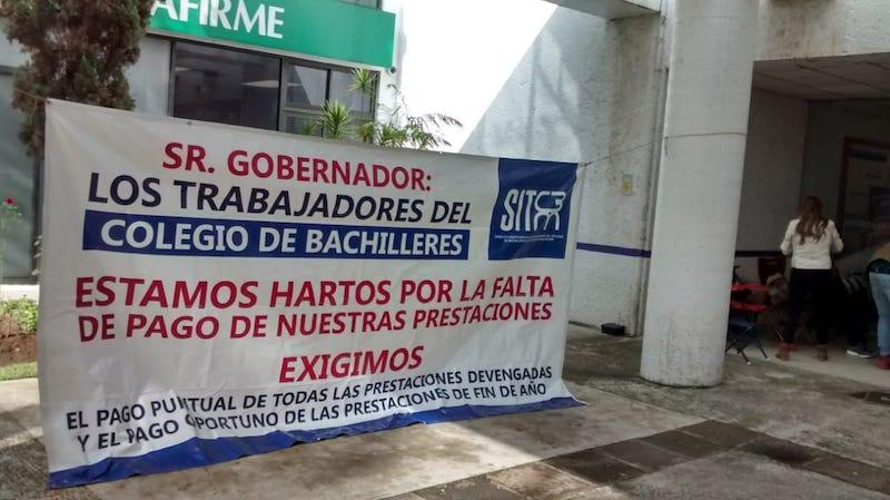 Las manifestaciones de este sindicato se replican en distintos puntos de Michoacán