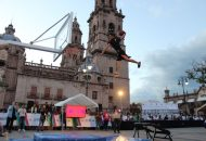 Así, en medio de una gran fiesta, dieron inicio las actividades del Fin de Semana de Estrellas de la LNBP, evento que por primera vez tiene lugar en Michoacán