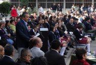 El alcalde de Morelia dio a conocer esta acción de su administración municipal durante el 46 Aniversario de la Escuela Secundaria Federal no.3 Francisco J. Múgica