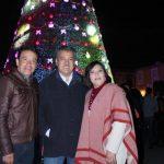 El árbol tiene 32 metros de altura e ilumina con 120 mil luces led