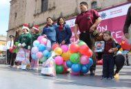 La presidenta honoraria del Sistema DIF Morelia, Rosalva Vidal Pérez, invitó a la ciudadanía a donar juguetes y ser solidarios