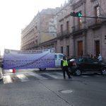 El bloqueo agudizó los problemas viales en el Centro Histórico de Morelia