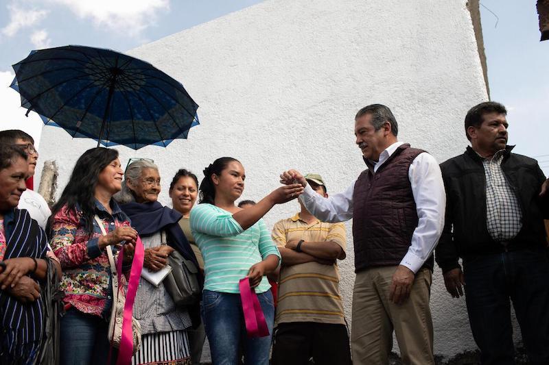 Morón Orozco destacó que este martes se benefició a 9 de 25 colonias que abarcará esta acción en el presente 2018