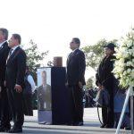 Aureoles Conejo acudió a la ceremonia fúnebre de la gobernadora de Puebla, Martha Erika Alonso Hidalgo, y el senador Rafael Moreno Valle, donde externó sus condolencias a familiares, amigos y colaboradores del matrimonio con el que compartió una sincera amistad