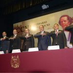 Asistió Raúl Morón a ceremonia de la UMSNH en honor a Ocampo