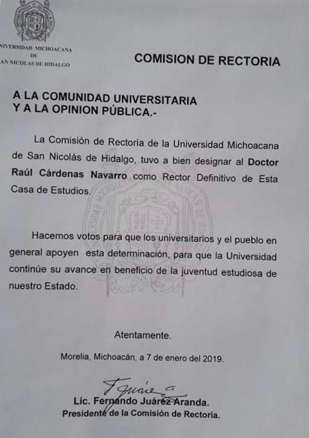 Cárdenas Navarro fue considerado entre los 21 aspirantes como uno de los de mejor perfil académico, pero además destaca por su buena relación con los sindicatos