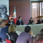 Aureoles Conejo compartió con ellos el resultado de las reuniones que sostuvo con titular de la Segob, para abordar la problemática
