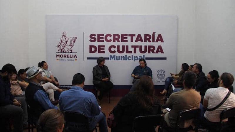 El encuentro fue encabezado por la secretaria de Cultura de Morelia, Cardiela Amezcua Luna, y el secretario de la Comisión de Cultura y Cinematografía de la Cámara de Diputados, Hirepan Maya Martínez