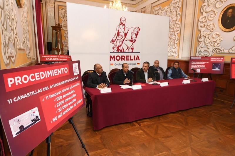 El 14 de febrero del 2019 será el fallo de la Licitación Pública Nacional; Morelia contará con luminarias con 100 mil horas de vida útil, es decir 10 años de funcionamiento