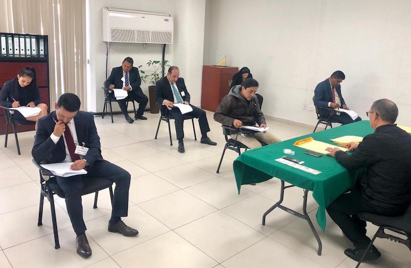 El examen se aplicó en las instalaciones de esta institución jurisdiccional