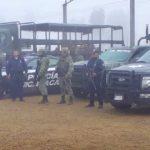 Elementos de la Policía Michoacán y del Ejército Mexicano realizaron la instalación de puestos de control y filtros de revisión en dichas zonas
