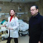 El director general, Germán Martínez Cázares, realizó un recorrido por el hospital de Magdalena de las Salinas para supervisar la atención a los afectados