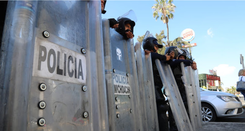 El operativo es permanente y se reactiva ante la presencia de manifestantes, esto con la finalidad de dar seguridad a terceros y evitar conflictos durante las concentraciones