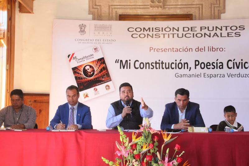 Erik Juárez expresó la importancia que niños, jóvenes y adultos conozcan más a fondo la Constitución