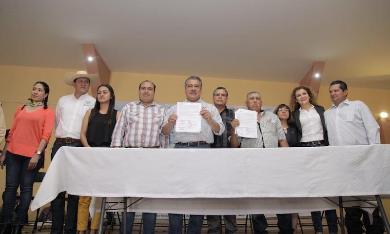 Ejidatarios de la ciudad estrecharon lazos con la administración municipal y se unieron al Acuerdo por Morelia