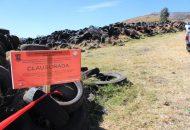 El predio donde se disponían los neumáticos, tiene una dimensión de aproximadamente 2 hectáreas