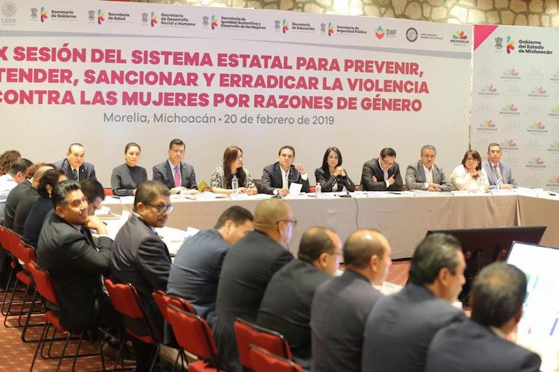 13 de los 14 municipios con Alerta de Violencia de Género en Michoacán, ya tienen un Comité de Atención a este flagelo