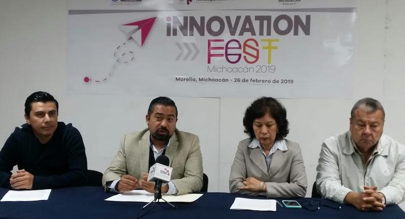 """En conferencia de prensa, el director general del Instituto de Ciencia, Tecnología e Innovación, José Luis Montañez Espinosa, explicó que en el Innovation Fest, el espacio físico se divide en 7 centros de actividad denominados """"Arenas"""""""