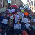 La marcha dio inició en el ayuntamiento, continuado por la calle Abasolo a un costado de la Plaza de Armas, para después seguir por las calles Santiago Tapia, León Guzmán y salir sobre la Avenida Madero hasta la altura de la plaza Niños Héroes de dónde regresó a Palacio Municipal
