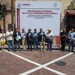 El presidente municipal, Raúl Morón Orozco inauguró calles por el orden de casi 5 millones en el Norte del Centro Histórico