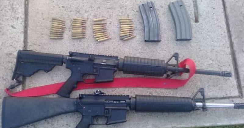 Tras la revisión de la unidad marca Volkswagen, línea Touareg, se encontraron armas largas