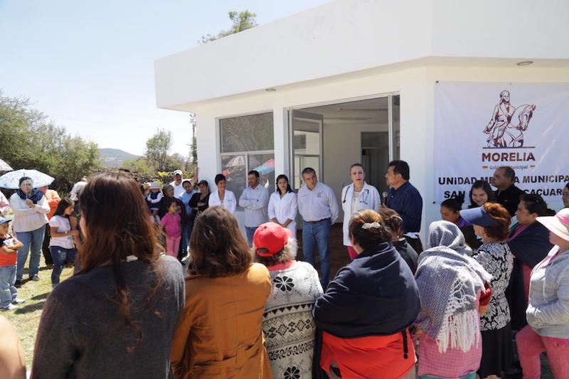 La unidad de salud se encuentra en la comunidad de San Pedro Chicácuaro: Morón Orozco