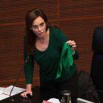 La senadora dijo que próximamente, sin especificar cuándo, presentará una iniciativa contra el aborto e invitó a que otros legisladores la apoyen