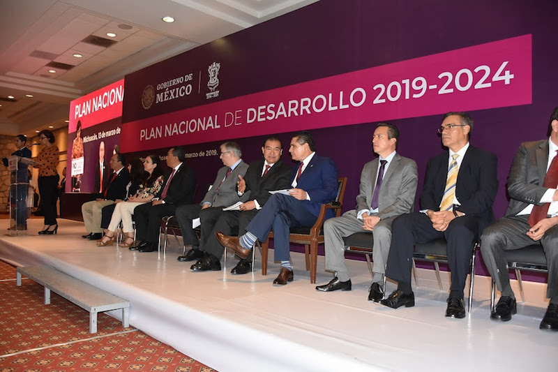 El presidente de la Mesa Directiva, participó en la inauguración de los foros para la elaboración del Plan Nacional 2019-2024