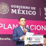 Aureoles Conejo inaugura el Foro Michoacán para la elaboración del Plan Nacional de Desarrollo 2019-2024