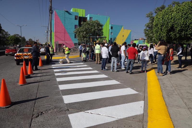 Aplicación de pintura en un jardín de niños, balizamiento y una brigada de limpieza, entre las acciones que se desarrollaron