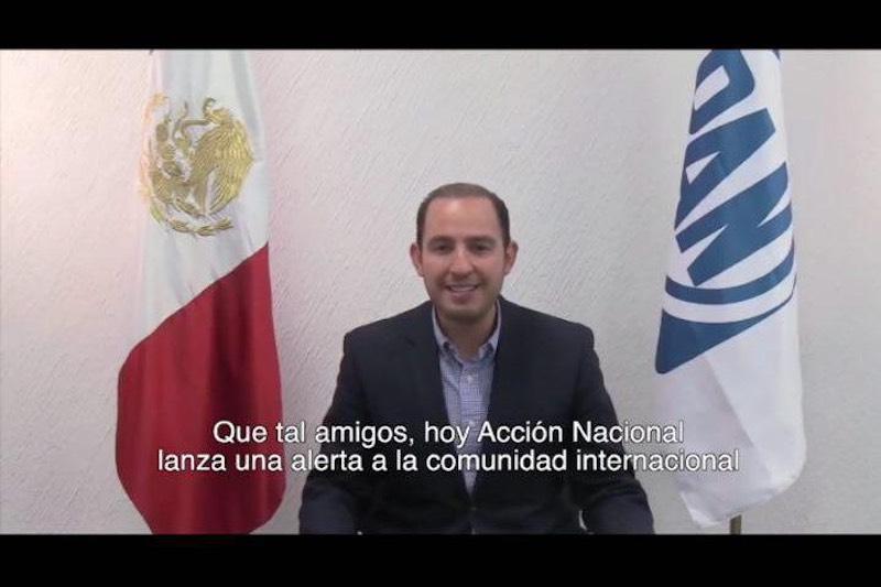 Marko Cortés aseguró que Acción Nacional defenderá con toda su fuerza los derechos y las libertades de los mexicanos y confío que los senadores de oposición rechacen la Revocación de Mandato de Morena