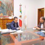 Aureoles Conejo se reunió con el titular de la Sedesoh, Juan Carlos Barragán