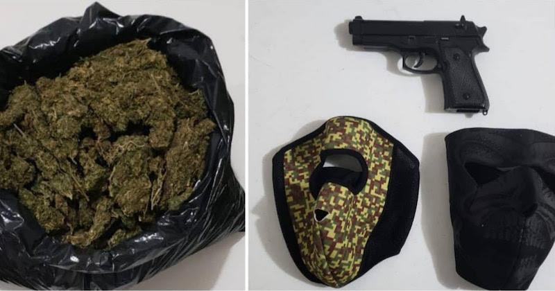Los detenidos en conjunto con droga y objetos, fueron asegurados para su puesta a disposición ante la autoridad competente
