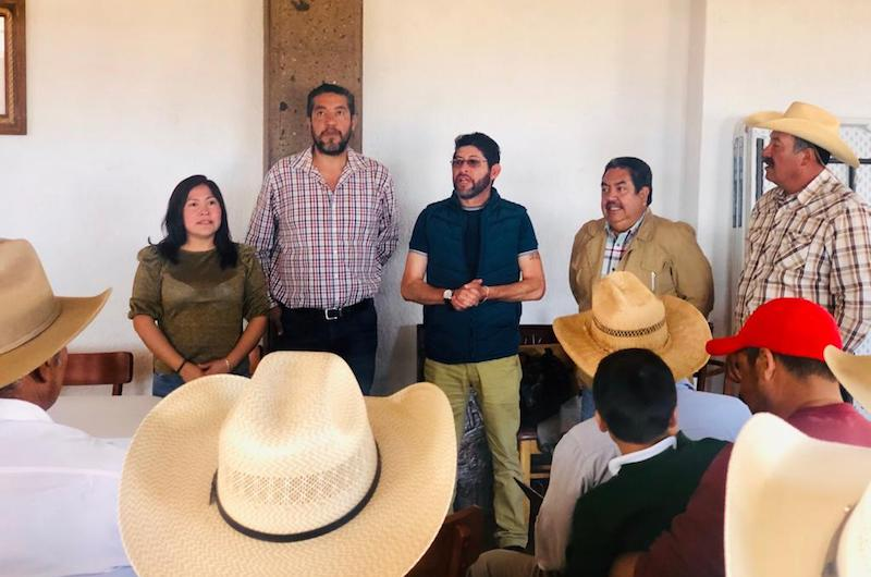 Ante un numeroso grupo de campesinos y campesinos de este municipio del oriente michoacano, Granados Beltrán indicó que Michoacán es una prioridad para el presidente de México