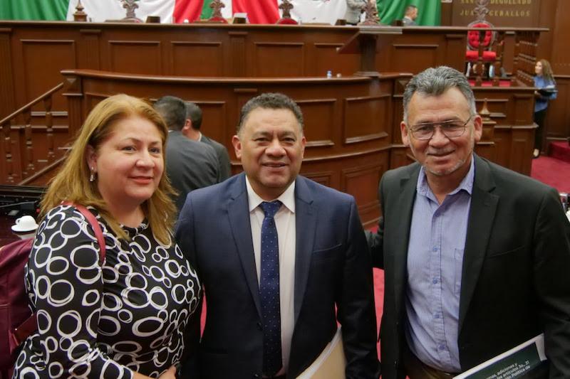 Bernabé Bahena destacó la participación de su compañera diputada y vicecoordinadora del Grupo Parlamentario de Morena, Cristina Portillo