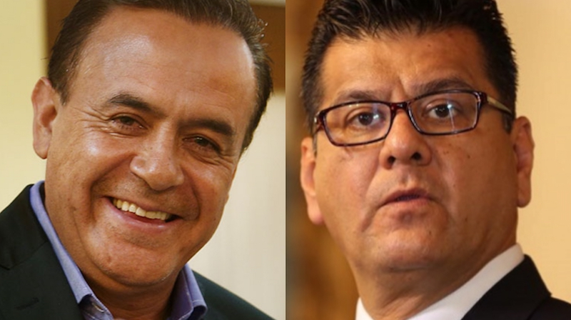En rueda de prensa, el gobernador de Michoacán les dio las gracias al ex secretario de Gobierno y al ex secretario de Seguridad Pública