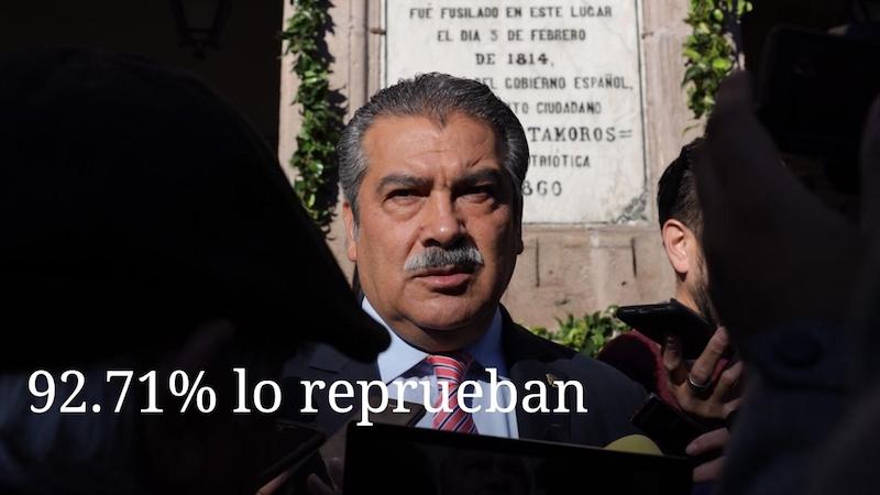 Entre los 99 que emitieron opiniones, 92 fueron negativas en torno al alcalde de Morelia y sólo 7 fueron positivas